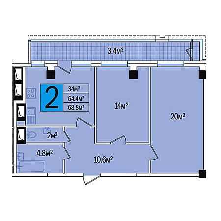 2-комнатые