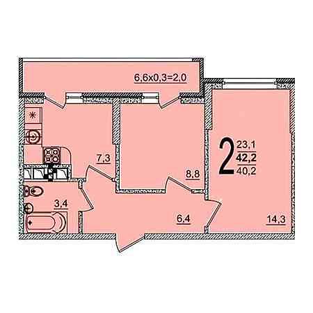 2-комнатные