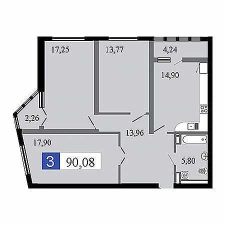 3-комнатные