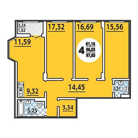 4-комнатные