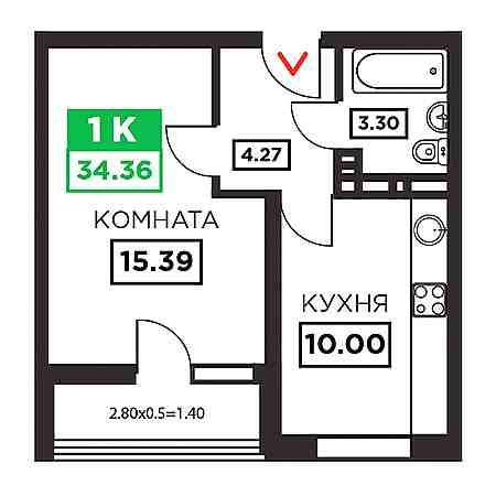 1-комнатные